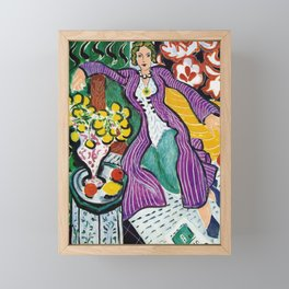 Woman in a Purple Coat 1937 by Henri Matisse, Artwork Design, Poster Tshirt, Tee, Jersey, Postcard Framed Mini Art Print