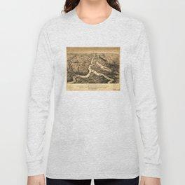 Vintage Ohio & Mississippi River Junction Map (1861) Long Sleeve T-shirt