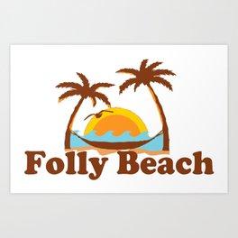 Folly Beach - South Carolina. Art Print