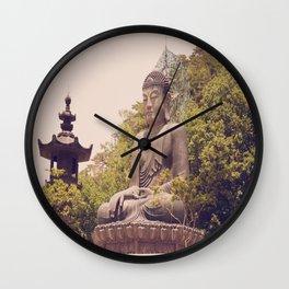 Seated Bronze Buddha Wall Clock