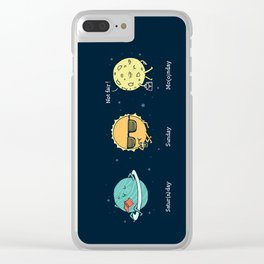 Moonday Clear iPhone Case