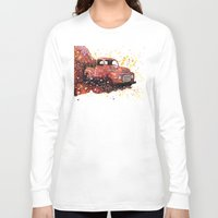 ford Long Sleeve T-shirts featuring 1950 ford truck by Beth Little