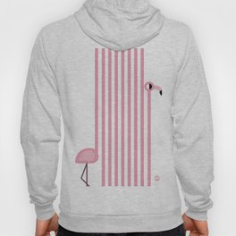 Striped Flamingo Hoody