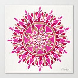Mandala – Pink & Rose Gold Canvas Print