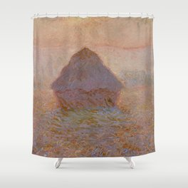 Grainstack, Sun in the Mist by Claude Monet Shower Curtain
