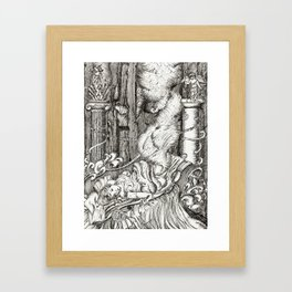 Secret visit Framed Art Print