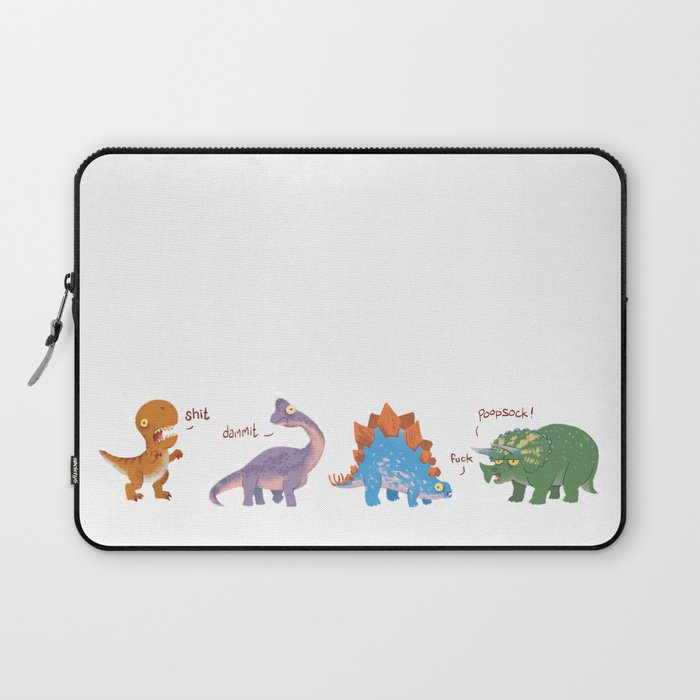 Potty Mouth Dinos Group Laptop Sleeve