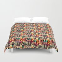 mouth Duvet Covers featuring mouth to mouth by bisualhart