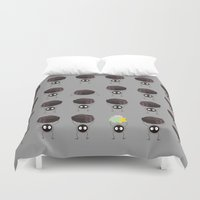 spirited away Duvet Covers featuring Susuwatari - Spirited Away by Nicolasfl