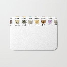 Kitty Language Bath Mat