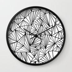 Ab Fan #2 White Wall Clock