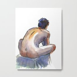 NATE, Nude Male by Frank-Joseph Metal Print