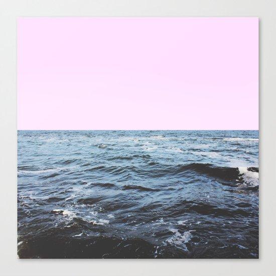 Sea + Pink Canvas Print