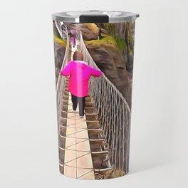Carrick-a-rede rope bridge, Ireland. (Painting) Travel Mug