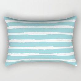 Beach Sparkle White Stripe Rectangular Pillow
