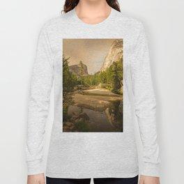 Mirror Lake Yosemite at Dusk Long Sleeve T-shirt