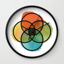 Ikigai Watercolor Wall Clock