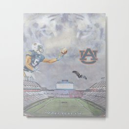 Auburn Tigers University War Eagle Metal Print