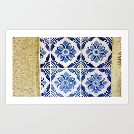 Portuguese tile 3 Art Print