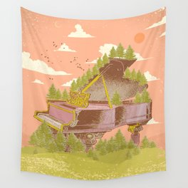 FOREST PIANO Wall Tapestry