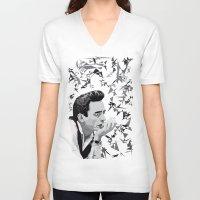 johnny cash V-neck T-shirts featuring Johnny Cash by Iany Trisuzzi