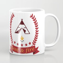 Tent and Fire Coffee Mug