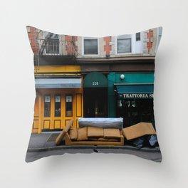 Bleecker St Throw Pillow