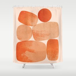 Abstraction_BALANCE_Minimalism_Art_001 Shower Curtain