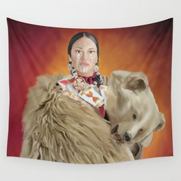 Laura Grizzlypaws; Bear Dancer Wall Tapestry