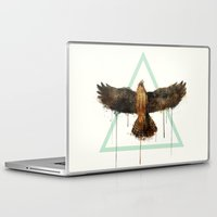 millenium falcon Laptop & iPad Skins featuring Falcon by Amy Hamilton