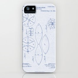 Football Patent Blue Paper iPhone Case