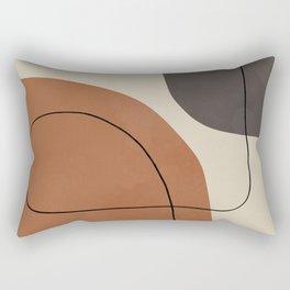 Modern Abstract Shapes #1 Rectangular Pillow