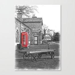 Hadlow Road Telephone Box Canvas Print