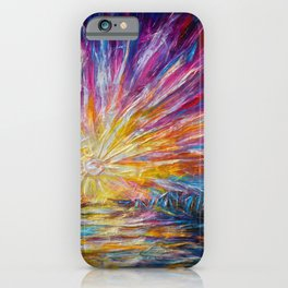Van Gogh's Style Sunlight Painting iPhone Case