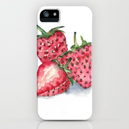 Watercolour Strawberries iPhone Case