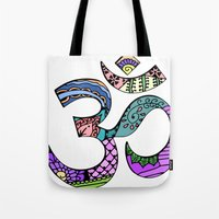 ohm Tote Bags featuring Ohm by Ilse S