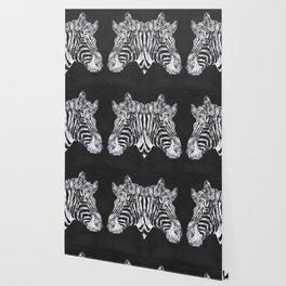 Silver Zebra African Wildlife Wallpaper