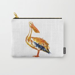Pelican watercolor painting Carry-All Pouch