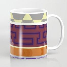 Multi Coloured Geometric Pattern Coffee Mug
