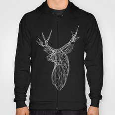 3D Stag Trophey Head Wire Frame Hoody