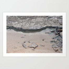 rocks in the ocean Art Print