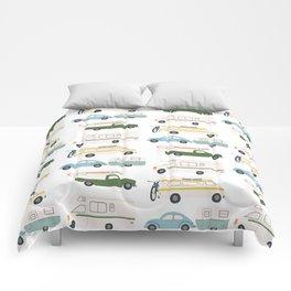 Vintage RV Motorhome Trailers Campers Comforters