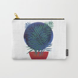 Crossing Lines III potted palm tree plant art deco gouache painting design Carry-All Pouch