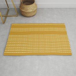 Spotted, Mudcloth, Mustard Yellow, Wall Art Boho Rug