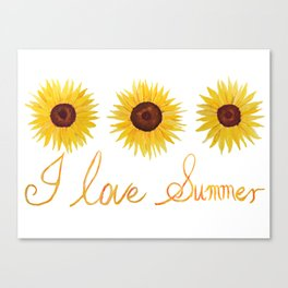 I love summer Canvas Print