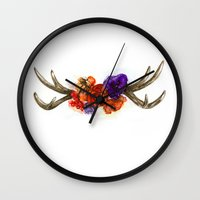 boho Wall Clocks featuring BOHO by Katya Zorin