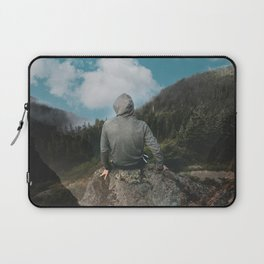 Man and the mountain Laptop Sleeve