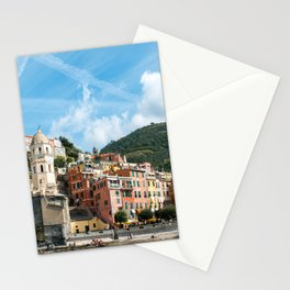 Cinque Terre, Vernazza Village | Mediterranean Coast, Italy | Pastel colorful travel photography in Europe | Art Print Stationery Cards