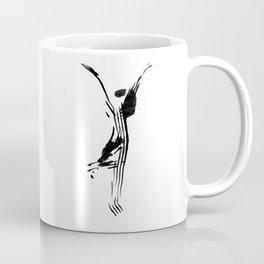 Black and white, minimalist, modern yoga pose illustration for yoga studio, yoga art, drawing, om Coffee Mug