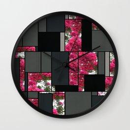 Crape Myrtle Art Rectangles 7 Wall Clock